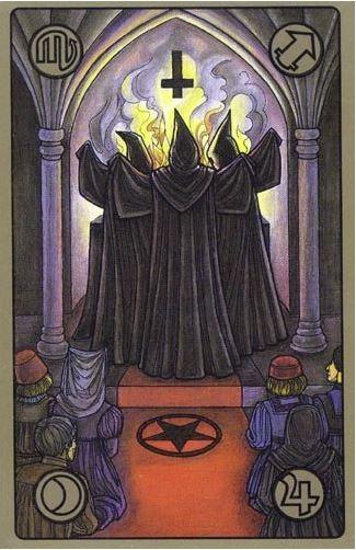 Černá mše - karty Symbolon