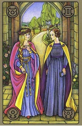 Zlaté děvče - karty Symbolon