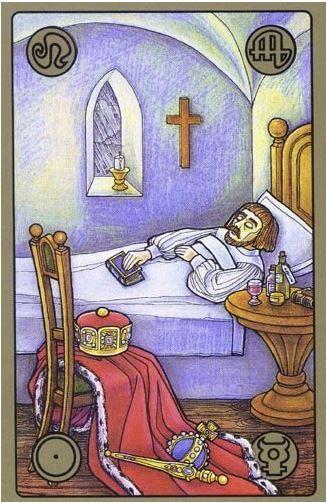 Nemocný král - karty Symbolon